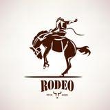 Символ лошади родео иллюстрация вектора