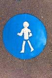 символ пешеходов тропы иконы Стоковое Изображение RF