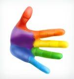 Символ приятельства руки цвета иллюстрация вектора