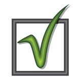 Символ проверки Стоковая Фотография