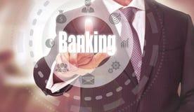 символ процента дег рук принципиальной схемы банка Стоковые Фотографии RF
