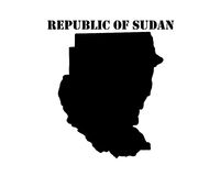 Символ Республики Судан и карты Стоковые Изображения