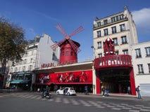 Символ румян Moulin Парижа стоковое изображение