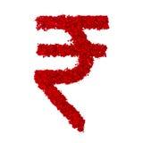 Символ рупии стоковая фотография