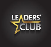 Символ серебра и золота векторной графики для руководителей компании с звездой формирует Стоковая Фотография RF