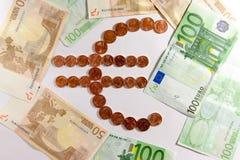 символ серии иллюстраций евро пламенистый Стоковые Фото