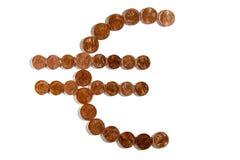 символ серии иллюстраций евро пламенистый Стоковое Изображение