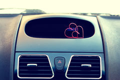 Символ сердца влюбленности и точности воспроизведения красного формирует как подарок на день валентинки Стоковое фото RF