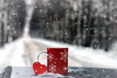 Символ сердца влюбленности и точности воспроизведения красного формирует как подарок на день валентинки Стоковое Изображение RF