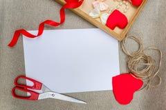 Символ сердца дня ` s валентинки красный, романтичная предпосылка, дизайнер Стоковая Фотография RF