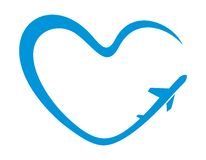 Символ сердца самолета Стоковые Изображения RF