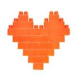Символ сердца сделанный кирпичей игрушки Стоковое фото RF
