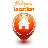 Символ сети вашего местоположения находки Стоковое Фото