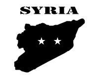 Символ Сирии и карты Стоковая Фотография