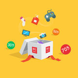 Символ скидки продажи специального предложения Стоковые Изображения