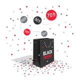 Символ скидки пятницы черноты специального предложения Стоковая Фотография RF