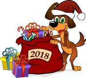 Символ собаки 2018 Новых Годов Стоковые Изображения