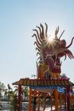 Символ, статуя дракона с лучем солнца Стоковые Фотографии RF