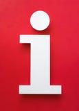 Символ сделанный из бумаги с красной предпосылкой Стоковые Фотографии RF