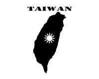 Символ Тайваня и карты Стоковые Изображения