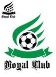 Символ футбола или футбола с зеленым цветом и чернотой Стоковые Фото