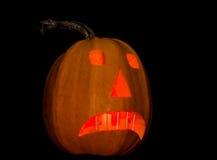 Символ хеллоуина - Джек-o'-фонариков на темной предпосылке Стоковая Фотография RF