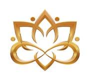 Символ цветка лотоса абстрактный Стоковые Изображения