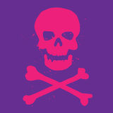 Символ черепа и кости стоковые изображения rf