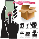 Символы вектора упаковывая бесплатная иллюстрация