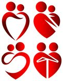 Символы влюбленности Стоковые Изображения