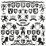 Символы ГЕРАЛЬДИКИ и декоративные элементы Стоковое Изображение RF