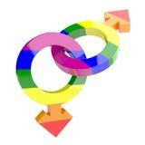 Символы гомосексуалиста Стоковые Фото