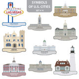 Символы городов США иллюстрация вектора