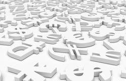 Символы денег Стоковое Фото