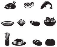 Символы еды Стоковые Фото