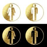Символы женщины человека Стоковые Изображения