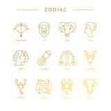 Символы зодиака Стоковая Фотография