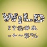 Символы имитируя мех зебры Стоковая Фотография RF