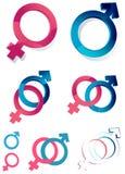 символы иллюстрации рода принципиальной схемы 3d Стоковые Изображения RF