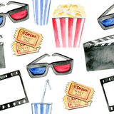 символы картины кино безшовные Иллюстрация штока