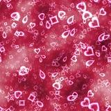 Символы карточки на розовой предпосылке стоковая фотография rf