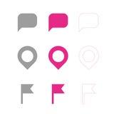 Символы карты Стоковая Фотография RF