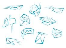 Символы конверта и почты Стоковая Фотография