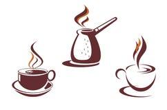 Символы кофе Стоковое Изображение RF