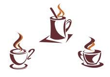 Символы кофе Стоковые Изображения