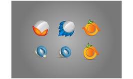 Символы логотипа установленные Стоковая Фотография RF