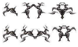 Символы оленей Стоковые Изображения
