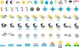 Символы погоды Стоковая Фотография