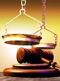 Символы правосудия иллюстрация штока