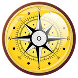 Символы розового компаса ветра плоские вектор Стоковые Фотографии RF